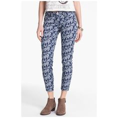 "HOST PICKSTS Floral Print Crop Skinny Jeans STS Blue Floral Print Crop Skinny Jeans (Juniors) 27"" inseam; 10"" leg opening; 7 3/4"" front rise; 12 3/4"" back rise ... Runs true size. Brand new no tags STS BLUE Jeans Skinny"