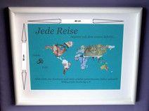 "Geldgeschenk ""Weltkarte"" A3 personalisiert"