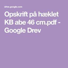 Opskrift på hæklet KB abe 46 cm.pdf - Google Drev
