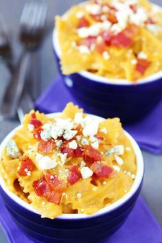 Butternut Squash, Bacon and Blue cheese Mac & Cheese | gimmesomeoven.com