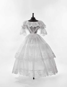 Fripperies and Fobs  Summer dress, 1840-45  From Daguerre