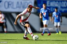 ORLANDO, FL - JANUARY River Plate forward Rodrigo Mora turns away fro pressure during the second half of a Florida Cup quarter-final match between River Plate and Millenarios FC on …. Orlando, Soccer, River, Sports, Hs Sports, Orlando Florida, Futbol, European Football, European Soccer