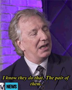 Alan Rickman on Tom and Benedict's impersonations of him. Sir Rickman is not amused......Our Naughty boys