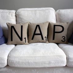 Letter NAP Pillow Set I need someone to make this for me.