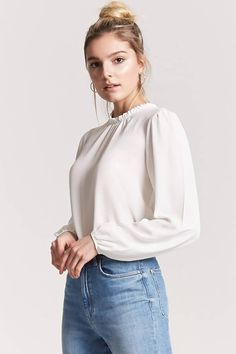 Product Name:Crepe High Neck Top, Category:top_blouses, Price:12.9