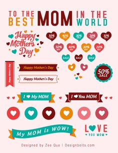 Freebies: Mother's Day Sale Vectors, Icons & Banners