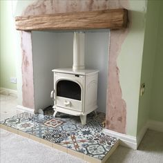 Best Screen open Fireplace Hearth Strategies – Rebel Without Applause Wood Stove Hearth, Wood Burner Fireplace, Hearth Tiles, Fireplace Tile Surround, Fireplace Hearth, Fireplace Ideas, Fireplaces, Unused Fireplace, Tiled Fireplace