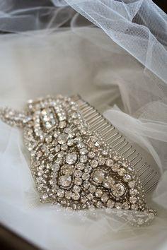 Bridal hair accessory **Once Upon A Time** Bridal Comb, Bridal Headpieces, Bridal Hair, Wedding Hair, Bridal Gowns, Wedding Stuff, Dream Hair, Tiaras And Crowns, Hair Ornaments