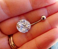 Big Diamond Belly Ring