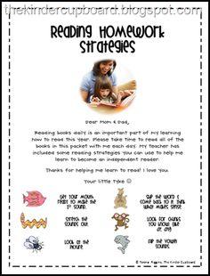 Hwk Rdg Strats for Parents #thekindercupboard #kindercupboard