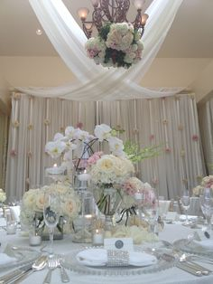 150 best draping tent ideas images on pinterest weddings draped ballroom with creams and pink flower centerpieces reception draping wedding sdweddingsbygina junglespirit