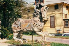 Beautiful Illions Horse In Need Of Restoration. A Closer Look Will Show You The Multiple Layers And Sections Used To Create Horse.| Flickr - Tommy