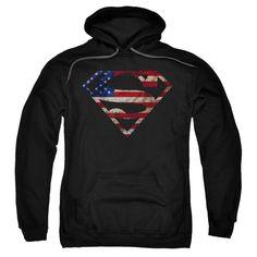 Super Patriot Adult Ringer T Sons of Gotham Superman Shirt XL