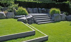 Modern Garden by Peter Berg Steep Gardens, Back Gardens, Small Gardens, Modern Landscaping, Backyard Landscaping, Formal Gardens, Outdoor Gardens, Landscape Architecture, Landscape Design