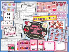 Sweet Valentines Day Activities (1st and 2nd Grade) from Teacher Features on TeachersNotebook.com -  (89 pages)  - Happy Valentine's Day! Fantastic Math and Literacy activities with MANY options allow you to differentiate for all levels of learning in your classroom.