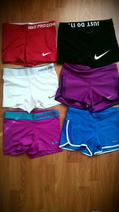i'm addicted to these nike pro core compression shorts! i want in every col… i'm addicted to these nike pro core compression shorts! i want in every color ♥ tighter than regular spandex shorts, perfect for running or the gym! Nike Pro Spandex, Nike Pro Shorts, Running Shorts, Nike Running, Gym Shorts Womens, White Nike Shorts, Workout Attire, Workout Wear, Athletic Outfits