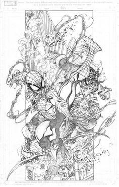 #Spiderman #Fan #Art. (Spiderman Vs. Green Goblin) By: Harveytolibao. (THE * 5 * STÅR * ÅWARD * OF * MAJOR ÅWESOMENESS!!!™)