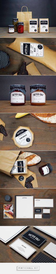 Fatted Calf on Behance by Victoria Herrera, New York, NY curated by Packaging Diva PD. Boutique charcuterie located in San Francisco that offers fresh and organic produce. Pushing the personal aspect of their business by allowing the employees to participate in an active part of the packaging.