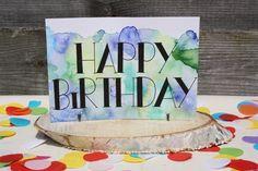 Handlettering inspiratie #4 - Verjaardagskaarten #happy birthday card #verjaardagskaart #handlettering card