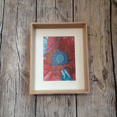 Artist Print, Poppy Wild Flower, Wall Art, Free Standing, Wooden Frame, Nature, Original Mixed Media Spiritual Painting Unique Fine Art Gift by ArtistHaideeHughes on Etsy