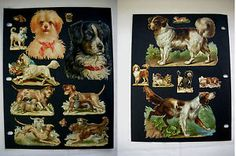 Page-of-Antique-Victorian-Embossed-Die-cut-Scrap-Dogs-171
