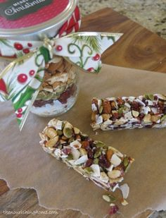 Grain-Free Fruit & Nut Bars-in-a-Jar Gift #TheNourishingHome