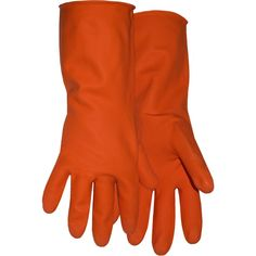 Boss Gloves 4708X Extra Large Orange Latex Lined Gloves - 2370-1402