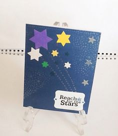 A personal favorite from my Etsy shop https://www.etsy.com/listing/230396500/hand-made-cards-reach-for-the-stars