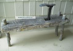 old cobbler bench | Antique Vint Old Cobblers Bench Rustic Primitive Decor 42x11x16hi Free ...
