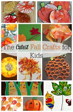 45 of the CUTEST Fall Crafts for Kids - How Wee Learn  diy craft ideas for fall - Diy Fall Crafts #Diy #the #DiyFallCrafts