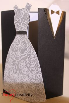Biglietto per matrimonio. #wedding #sposi #dress #auguri #card #handmade #black #white Black White Parties, Invitation Cards, Invitations, Diy Cards, Quilling, Wedding Cards, Bridal Shower, Inspiration, Paper
