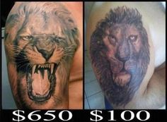 Good tattoos aren't cheap, cheap tattoos aren't good!
