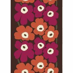 Marimekko Unikko Fuchsia/Orange Fabric  - Click to enlarge