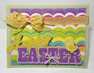 Colorful Happy Easter #Cricut Card