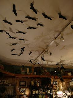 The Summer Kitchen Girls: Batty Shadows. Halloween Ceiling  DecorationsHalloween ...