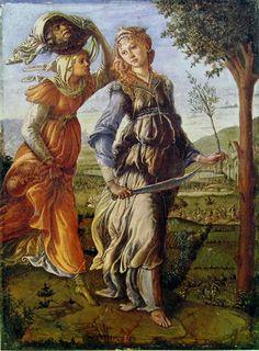 Botticelli - Il Ritorno di Giuditta a Betulia, 1472, Galleria degli Uffizi, Firenze