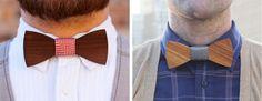 Gravatas de Borboleta feitas com madeira - Two Guys Bow Ties