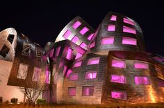Lou Ruvo in Hot Pink |   One of Las Vegas' coolest buildings -- and its nowhere near the strip. It's kind of in the no man's land between the strip and Downtown. This is the Lou Ruvo Center for Brain Health in Las Vegas, designed by the architect behind the Walt Disney Concert Hall, Frank Gehry.