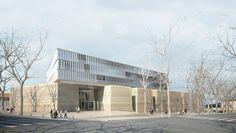 Projet architectural du tribunal de grande instance d'Aix-en-Provence (Bouches-du-Rhône), par Atelier Marc Barani