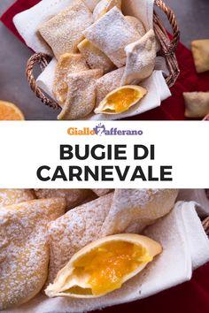 BUGIE DI CARNEVALE: una golosa variante delle tradizionali bugie (o chiacchiere), arricchite con un morbido ripieno che vi sorprenderà al primo assaggio! #bugie #carnevale #ripiene #carnival #chiacchiere #stuffed #fried #sweet #dolce #dessert #italianfood #easy #recipe #ricetta #facile #veloce #giallozafferano [Easy italian carnival fried stuffed sweet recipe] Italian Cooking, Italian Recipes, Italian Cake, French Toast, Food And Drink, Cheese, Snacks, Eat, Breakfast