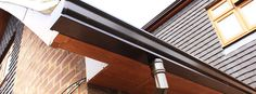 Aluminium Gutters - strong, long life, resist corrosion and leak proof. Disadvantage - need regular maintenance.