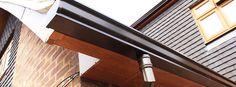 Aluminium Gutters - strong, long life, resist corrosion and leak proof. Disadvantage - need regular maintenance.