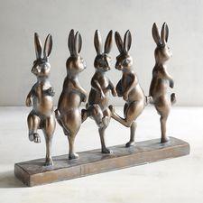 Dancing Bunnies Sculpture