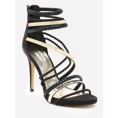 Nedda Strappy Sandals (15100 RSD) ❤ liked on Polyvore featuring shoes, sandals, strappy sandals, bebe sandals, strappy shoes, snakeskin sandals and snake skin shoes