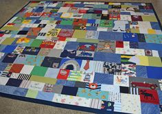 wow, this baby clothes quilt is amazing! want to do this someday! jellybeanquilts.com