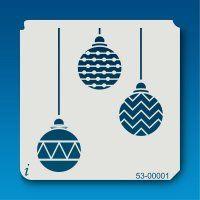 53-00001 Christmas Ornament Trio Stencil