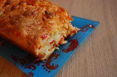 Recette - Cake poivron et chorizo   750g