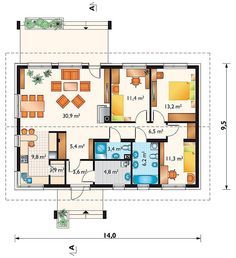 House Plans, Pergola, Sweet Home, Floor Plans, How To Plan, Houses, Blueprints For Homes, Homes, Home Plans
