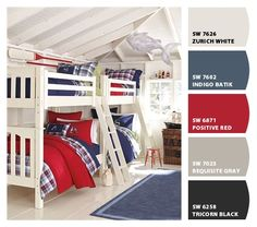 Find shared bedroom ideas and inspiration at Pottery Barn Kids. Discover room ideas that will be able to handle multiple kids and styles. Cool Boys Room, Cool Bedrooms For Boys, Kids Bedroom, Boys Nautical Bedroom, Bedroom Ideas, Beach Bedrooms, Blue Bedroom, Nursery Ideas, Bunk Beds Boys
