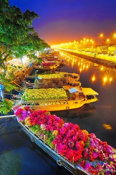 Wake up early and visit the impressive Quang Ba Flower Market in #VIETNAM. Full of the most exotic and pretty flowers you'll ever see!